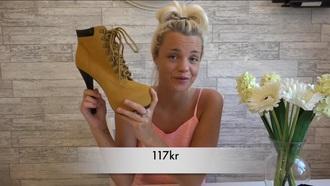 shoes heels timberlands