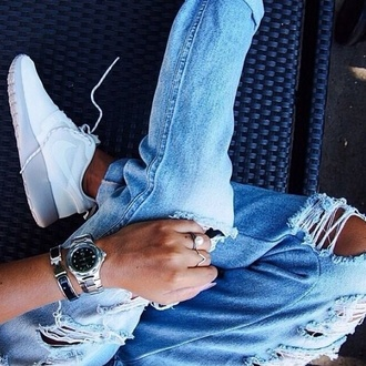 jeans ripped jeans ripped ripped denim ripped boyfriend jeans boyfriend jeans backless nike shoes nike watch watch for girls accessories