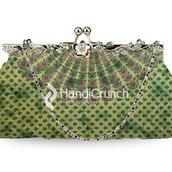 bag,handbag,clutch,chain bag,green bag