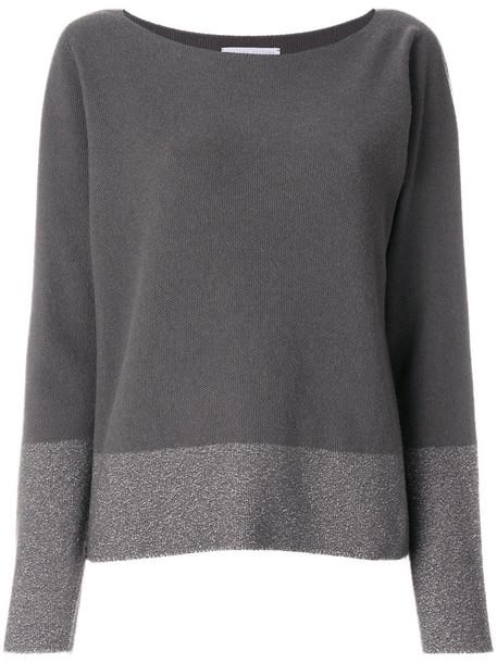 jumper women silk grey sweater