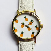 jewels,watch,handmade,style,fashion,vintage,etsy,freeforme,summer,spring,gift ideas,new,love,hot,trendy,fall outfits,winter outfits,pineapple,white,fruits,tropical,orange