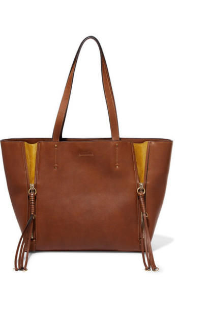 Chloe light leather brown bag