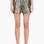 roksanda ilincic grey metallic francine shorts