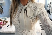 jacket,shirt,white,lace,bow,satin,cream,tank top,blouse,elegant,beige,beige ivory brand lace