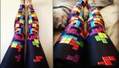 pants,tetris,leggings,pattern,video game,colorful