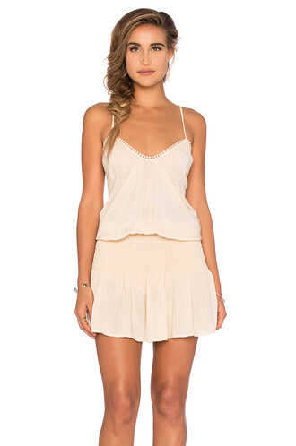 dress halter dress cross back criss cross beige