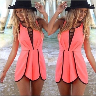 romper fashion modern pink summer outfit clothes alittlepartystore shopping