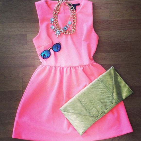dress pink cute party formal fashion pink dress hot pink hot pink dres hot pink dress