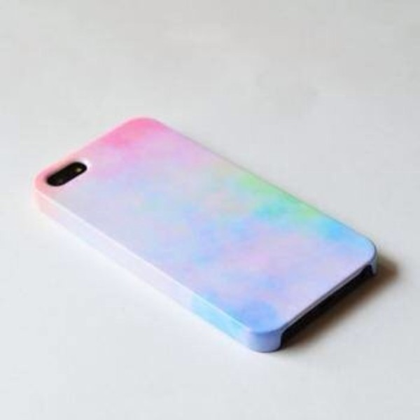 jewels iphone case rainbow color/pattern multicolor iphone iphone 5 case iphone 4 case phone cover iphone5 case phone cover tie dye clouds pastel pin purple blue green tumblr multicolor cute easy christmas tie dye pastel phone case