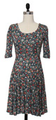 Floral twirl dress