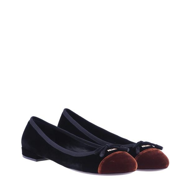 Prada velvet black brown shoes
