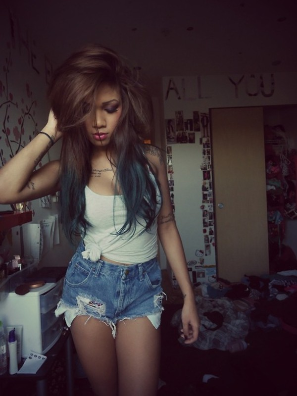 Shorts Asian Hipster High Waisted Shorts Denim Shorts