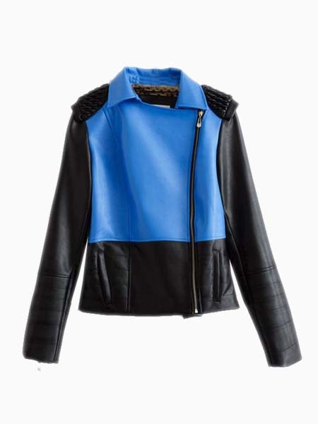 New Look Structured Sleeve Leather Jacket | Choies