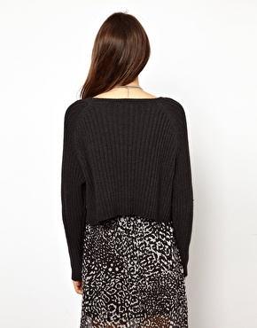 Monki | Monki Knitted Cropped Jumper at ASOS