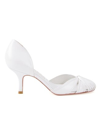 heel women pumps white shoes