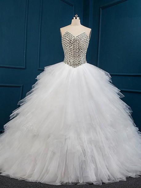 dress, wedding dress, wedding, crystal, puffy dress, puffy, special ...