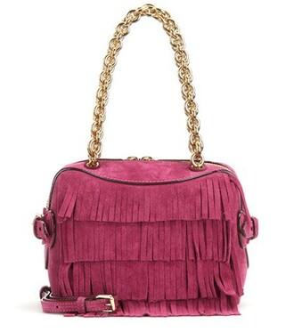 bee bag shoulder bag suede pink