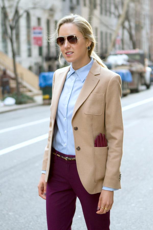 the classy cubicle jacket shirt pants shoes belt jewels sunglasses