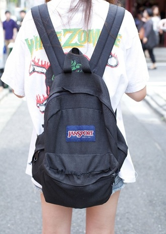 bag school bag black bag jansport