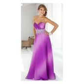 dress,ombre hair,party dress,prom dress,beaded,magenta