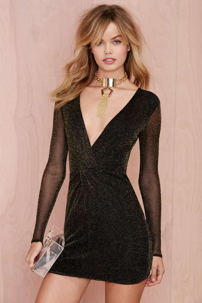 Nasty gal light it up lurex dress