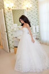 dress,wedding dress,lace wedding dress,princess wedding dresses,white dress,lace dress,sleeveless dress
