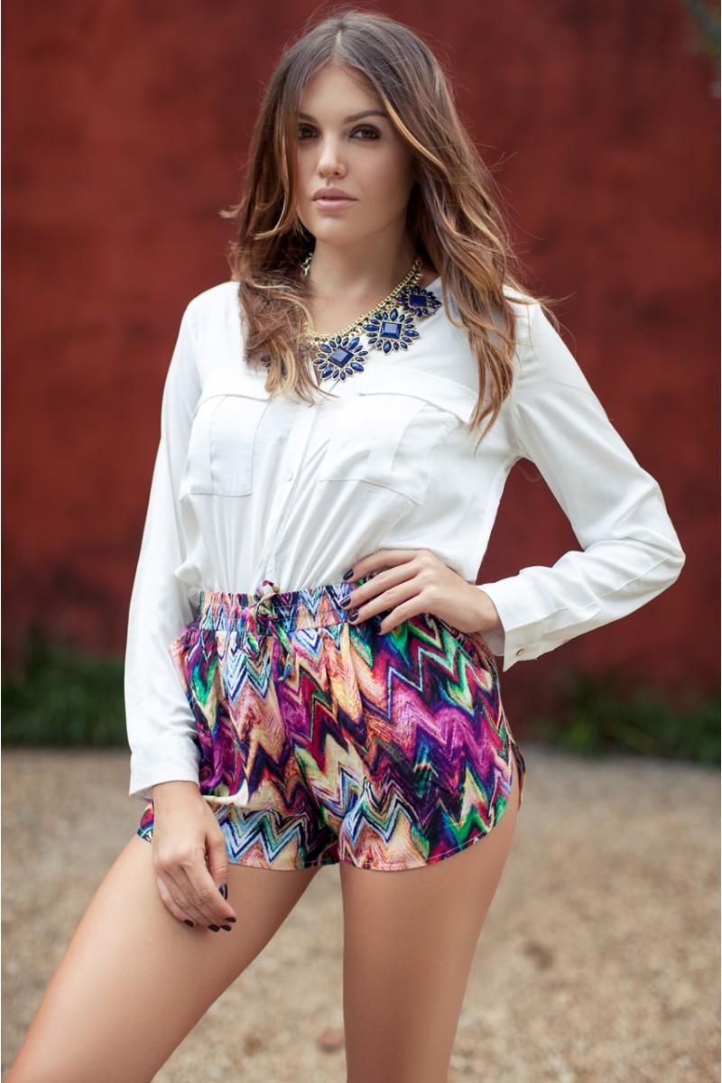 Printed Bam Shorts