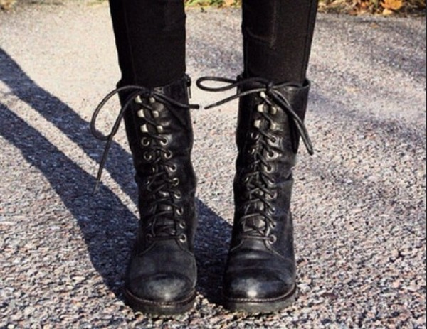 shoes combat boots leather boots