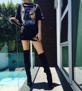t-shirt black oversized tupac instagram ripped holes beautiful