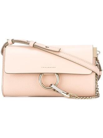 women bag crossbody bag leather suede purple pink