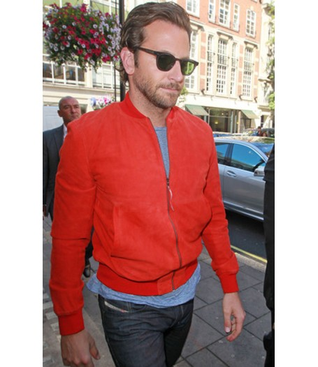 Cooper Bomber Jacket | Men's Red Suede Jacket