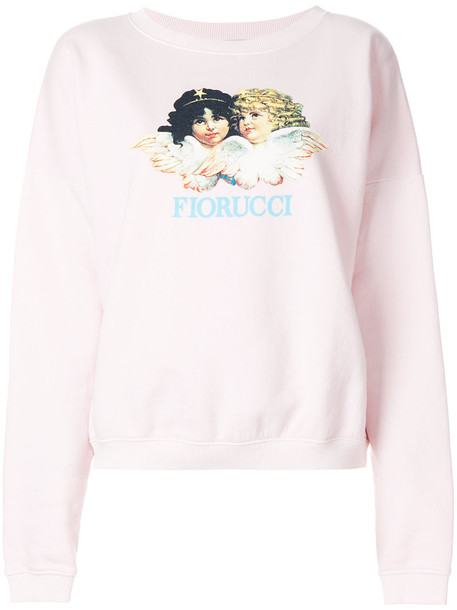 FIORUCCI sweatshirt women cotton print purple pink sweater