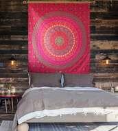 home accessory,mandala handmade wall hanging,mandala wall hanging,wall hanging,boho,bohemian,tapestry,mandala,wall tapestry,hippie,bedsheet,duvet,bedding
