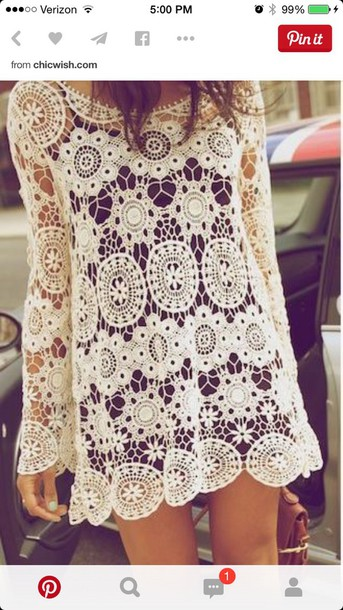 dress lace dress white dress white boho summer dress hipster