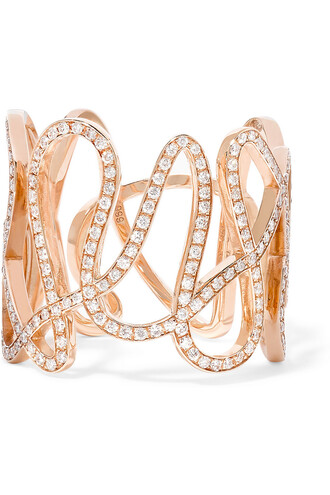 diamond ring rose gold rose ring gold white jewels
