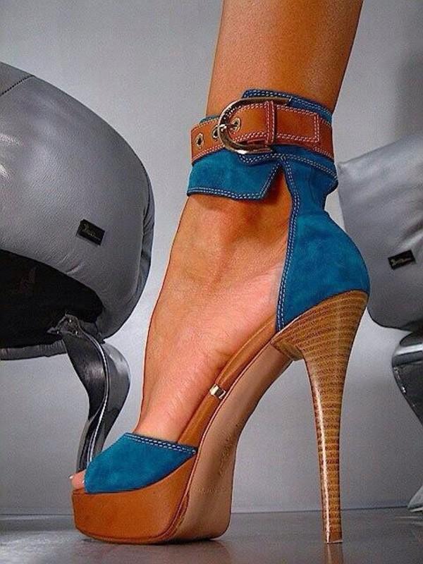 shoes high heels blue heels platform shoes platform heels platform wood heel