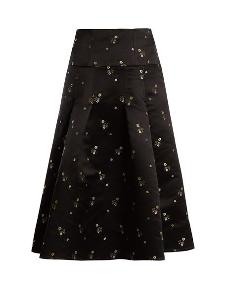 Erdem skirt satin black