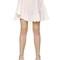 Scalloped cotton poplin skirt