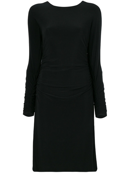 Norma Kamali dress women spandex black