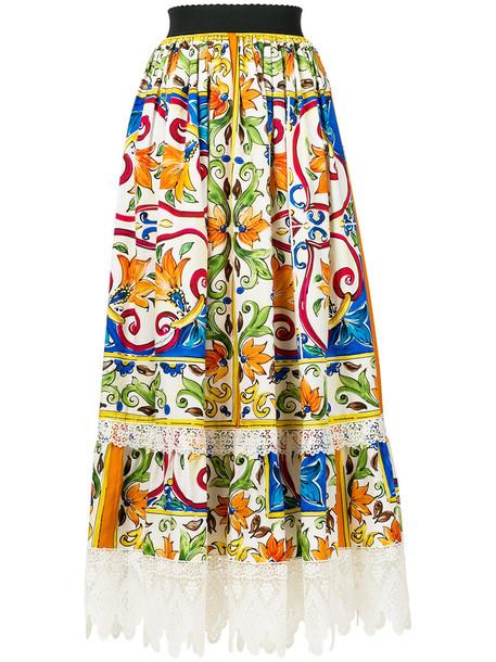 Dolce & Gabbana skirt lace skirt women lace cotton