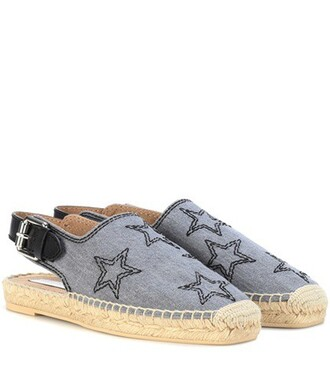 embroidered espadrilles blue shoes