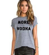 t-shirt,more vodka,vodka,grey,graphic tee,slogan tee,unisex,super cute,fall outfits,statement,tri blend