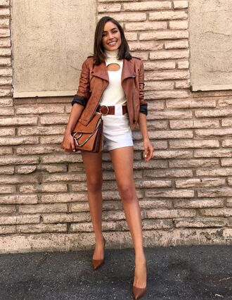 shorts jacket top olivia culpo fall colors fall outfits fall jacket instagram