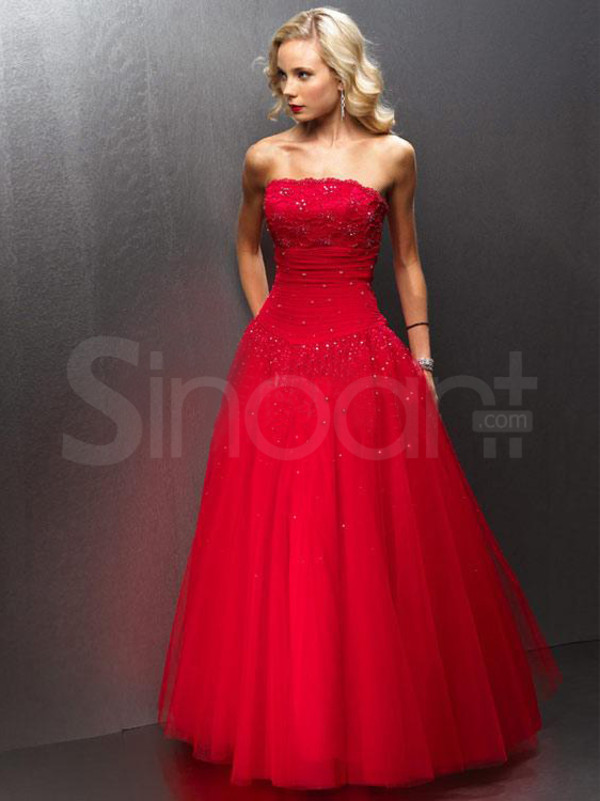 dress made of tulle floor length