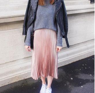 skirt maxi maxi skirt pink pleated skirt