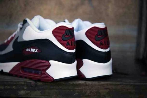 06fd89b32d86f9 shoes air max burgundy grey white nike air trainers air max nike nike air  max 90