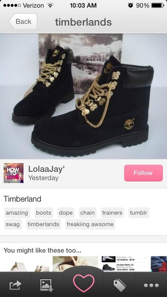 shoes women's tims timberlands gold chains boots women's shoes rare black