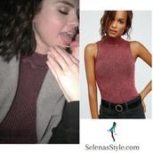 top,free people,selena gomezs blouse