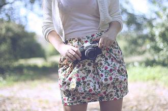 skirt flowers floral skirt shirt floral