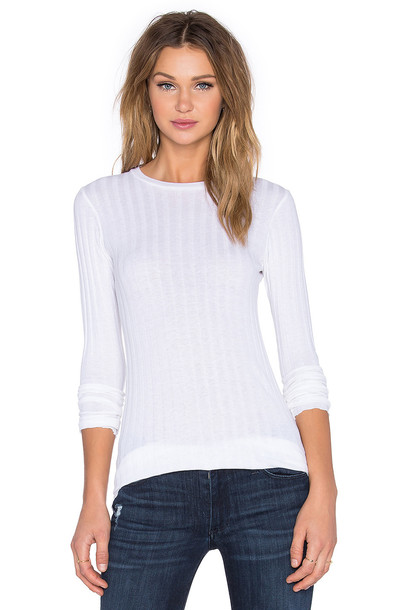 enza costa sweater long white